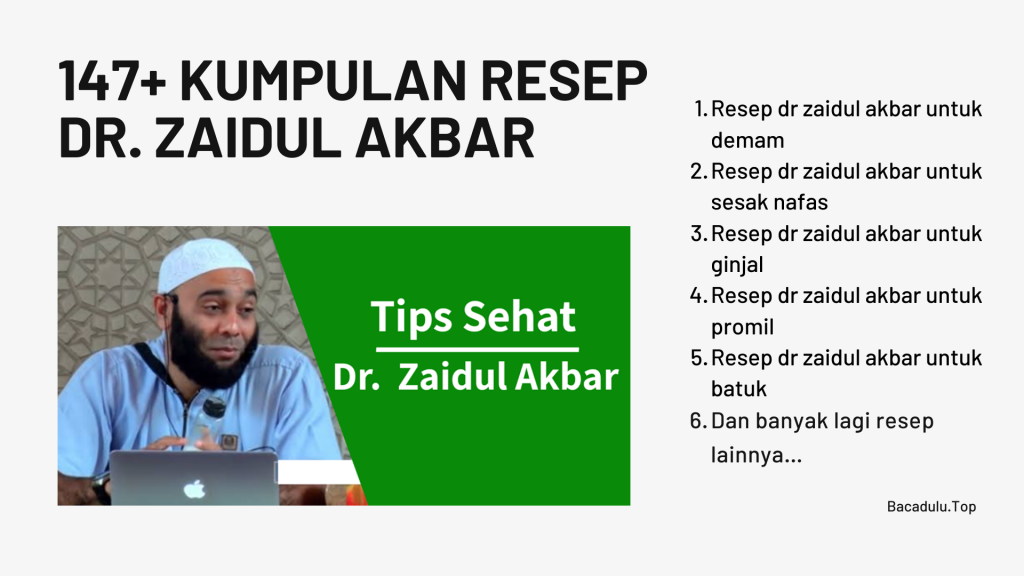 147+ Kumpulan Resep Dr. Zaidul Akbar / JSR ( Jurus Sehat Rasulullah ) Lebih LENGKAP