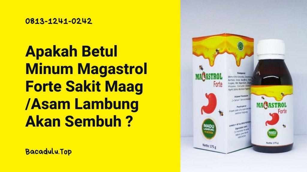 Apakah Betul Minum Magastrol Forte Sakit Maag /Asam Lambung Akan Sembuh dan Tidak Kambuh Lagi ? Adakah Jaminan ?