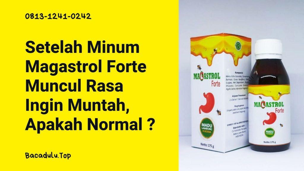 Setelah Minum Magastrol Forte Muncul Rasa Ingin Muntah, Apakah Normal ?