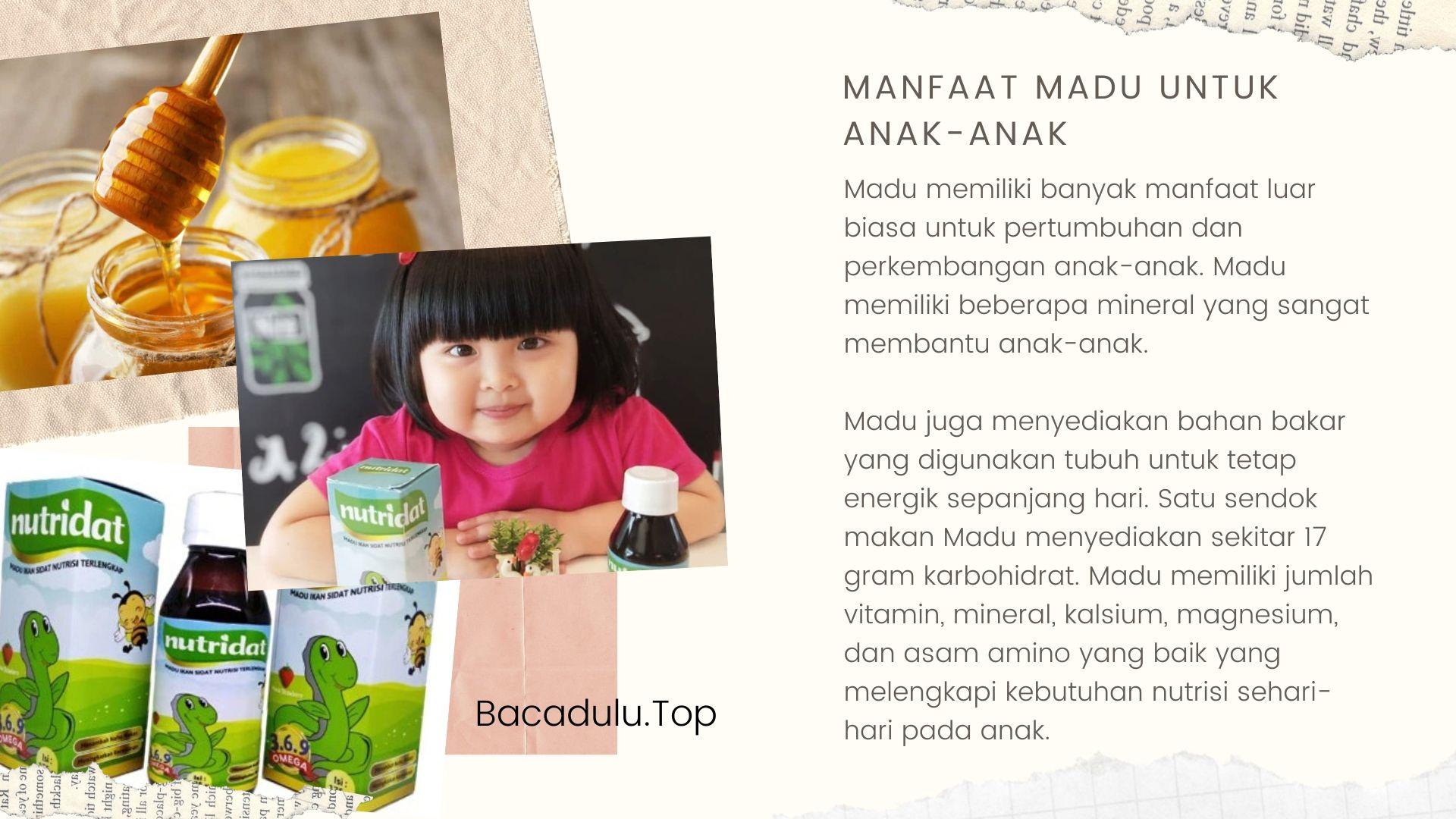 Apa Saja Manfaat Komposisi Nutridat Untuk Anak-anak madu