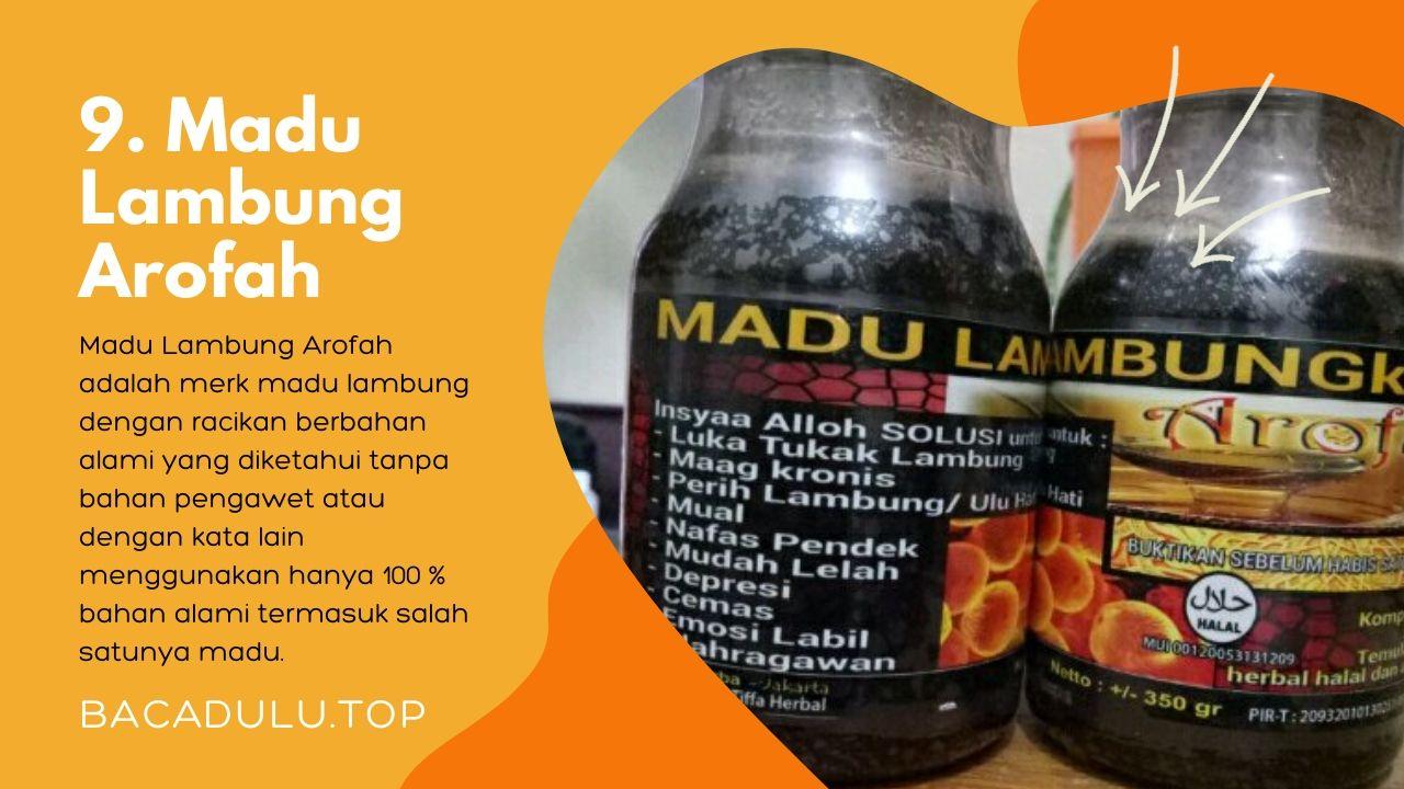 Merk madu terbaik ampuh yang bagus untuk asam lambung dan maag Arofah