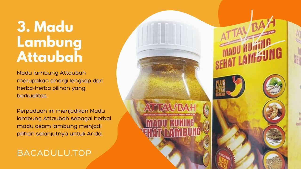 Merk madu terbaik ampuh yang bagus untuk asam lambung dan maag Attaubah