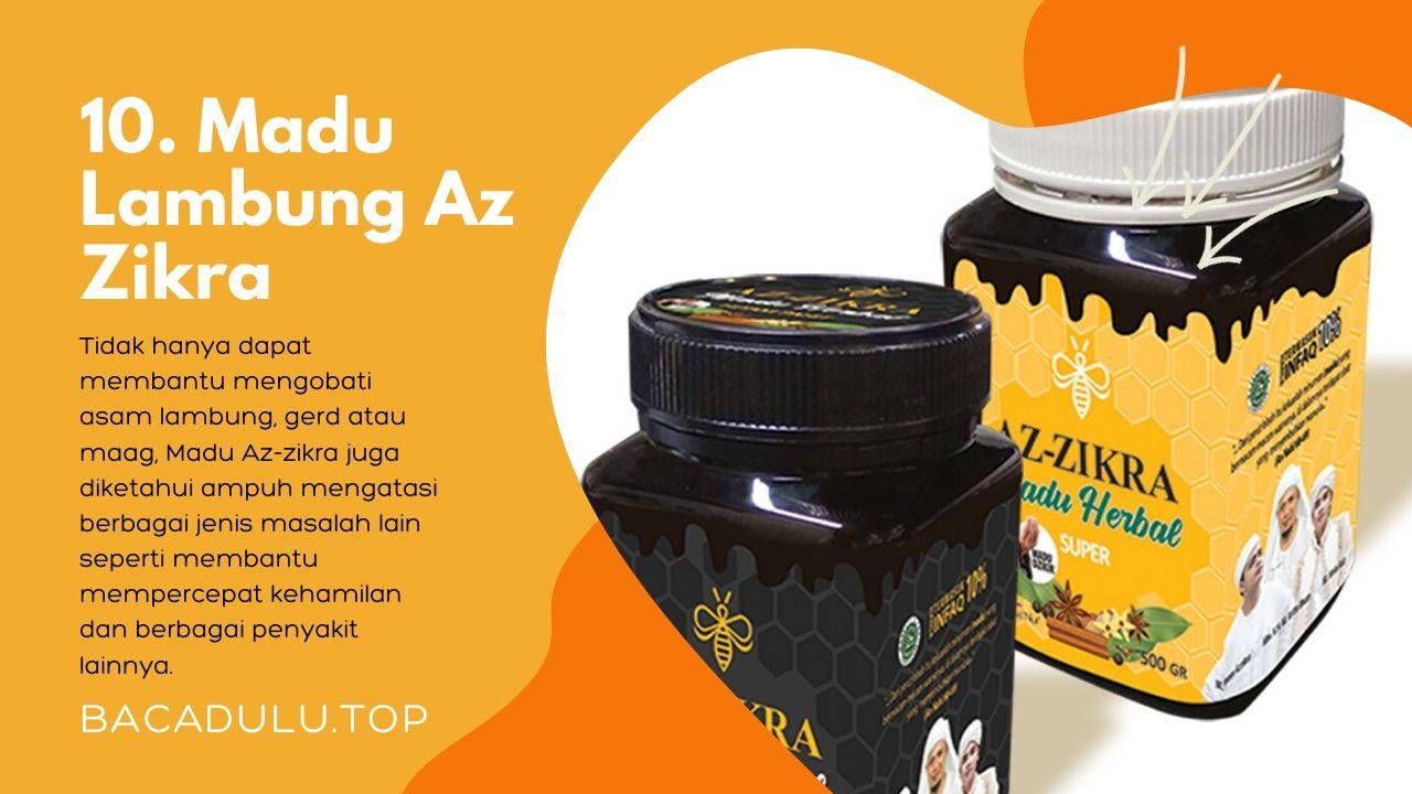 Merk madu terbaik ampuh yang bagus untuk asam lambung dan maag Az Zikra