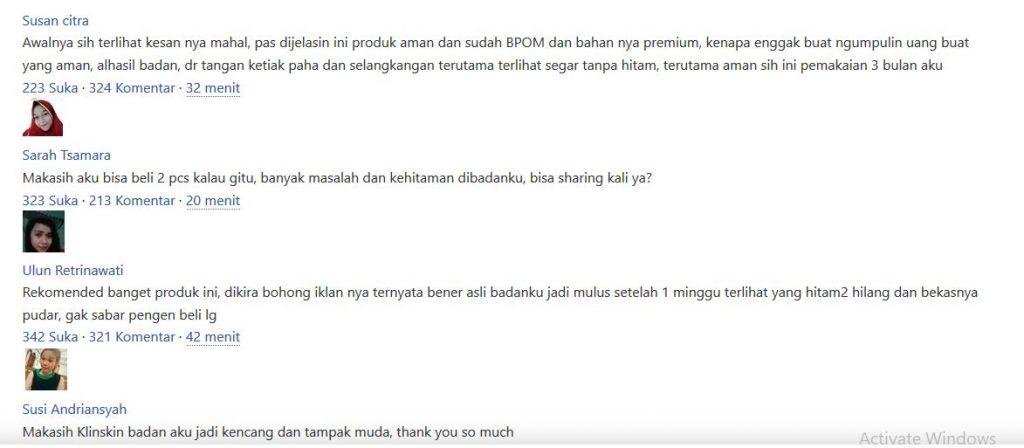 Review Testimoni Sabun Klinskin Terbaru