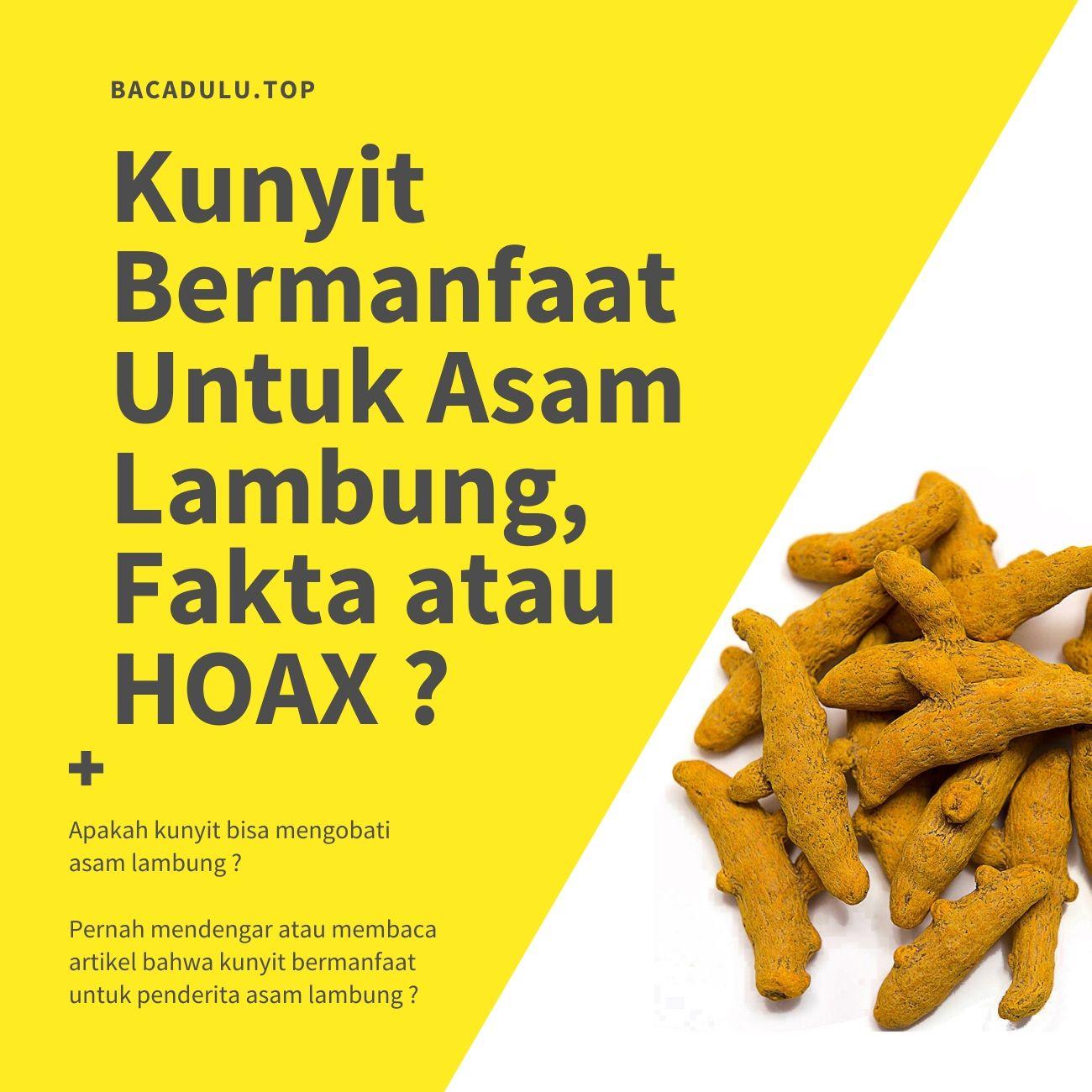 Kunyit Bermanfaat Untuk Asam Lambung, Fakta atau HOAX ?