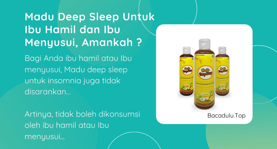 Bisakah Madu Deep Sleep Diminum Oleh Ibu Hamil dan Ibu Menyusui ?