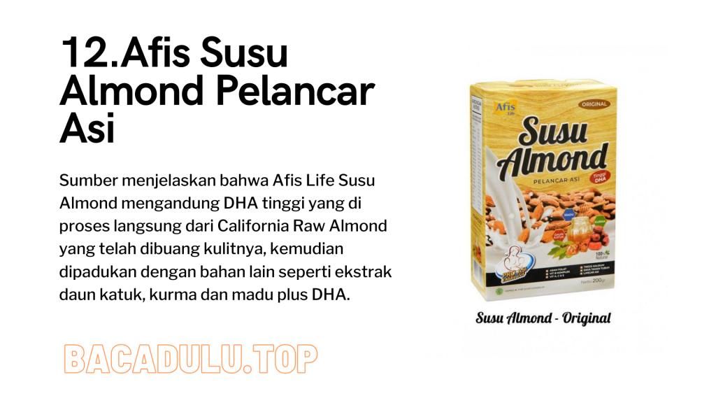 Merk Obat Vitamin Teh Susu Madu Suplemen Pelancar Asi Terbaik Yang Bagus Review Afis Susu Almond Pelancar Asi