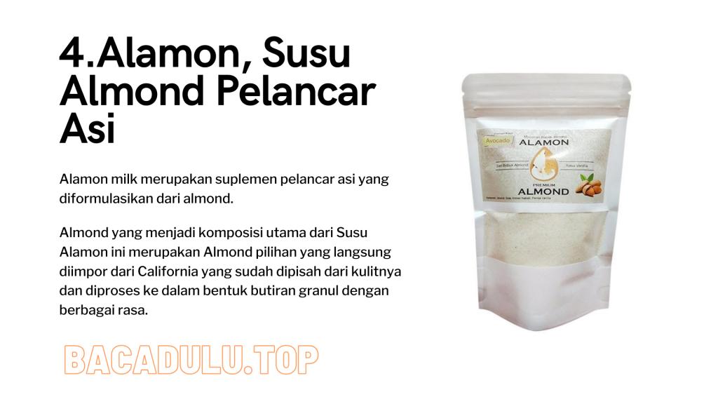 Merk Obat Vitamin Teh Susu Madu Suplemen Pelancar Asi Terbaik Yang Bagus Review Kelorcap Alamon, Susu Almond Pelancar Asi