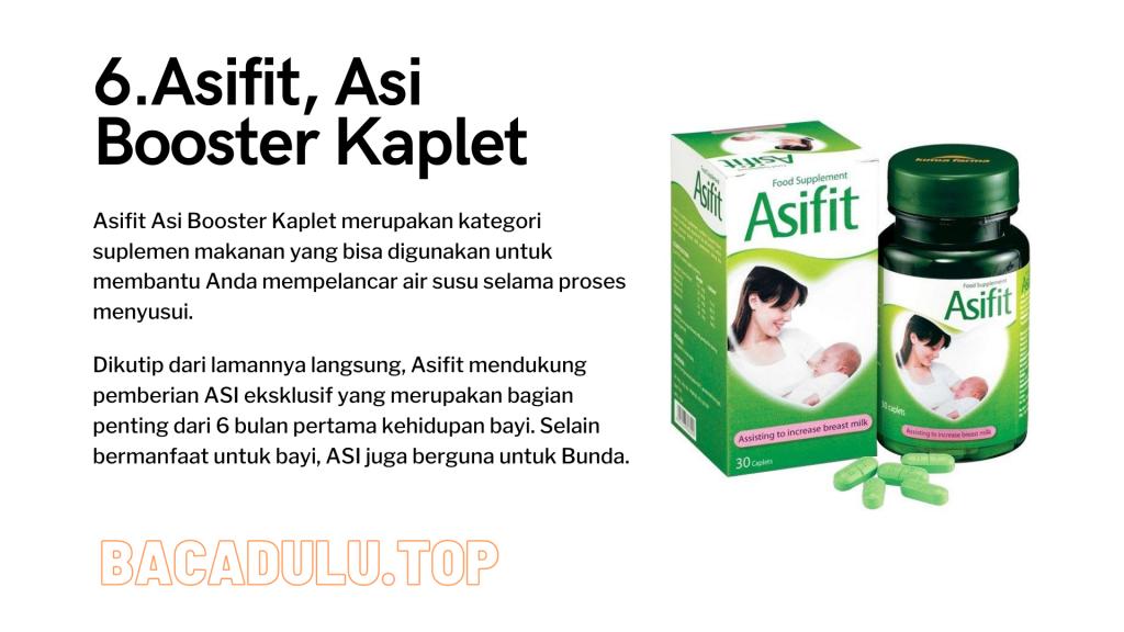 Merk Obat Vitamin Teh Susu Madu Suplemen Pelancar Asi Terbaik Yang Bagus Review Asifit, Asi Booster Kaplet