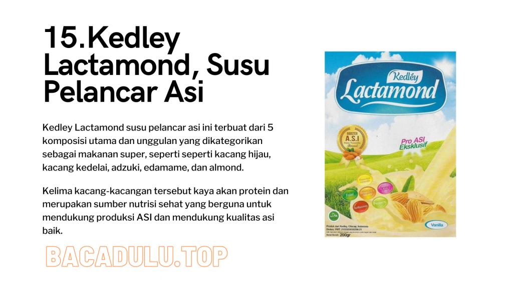 Merk Obat Vitamin Teh Susu Madu Suplemen Pelancar Asi Terbaik Yang Bagus Review Kedley Lactamond, Susu Pelancar Asi
