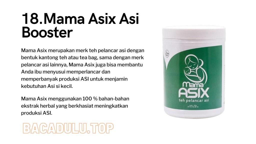 Merk Obat Vitamin Teh Susu Madu Suplemen Pelancar Asi Terbaik Yang Bagus Review Mama Asix Asi Booster