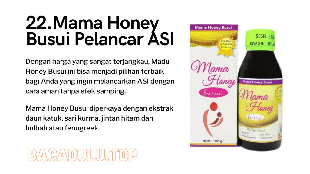 Merk Obat Vitamin Teh Susu Madu Suplemen Pelancar Asi Terbaik Yang Bagus Mama Honey Busui Pelancar ASI Review