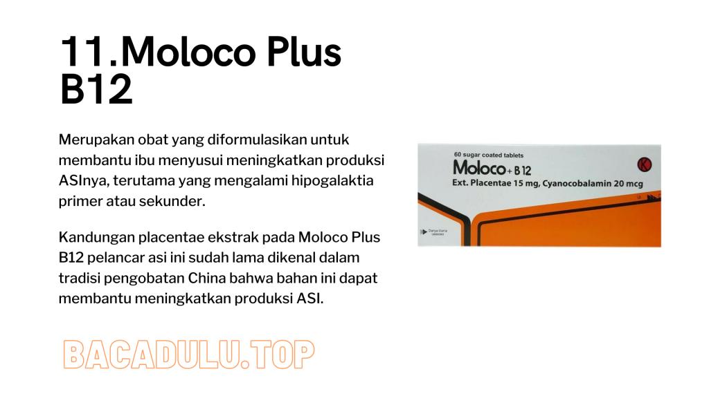 Merk Obat Vitamin Teh Susu Madu Suplemen Pelancar Asi Terbaik Yang Bagus Review Moloco Plus B12