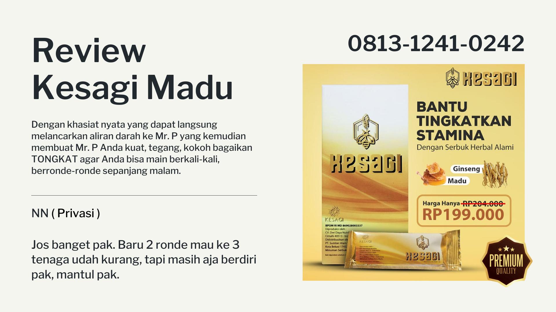 Review Madu Kesagi Stamina Pria Dewasa, Benarkah Ampuh ?