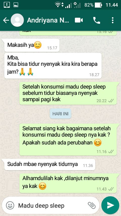 Review Testimoni Pengguna Madu Deep Sleep