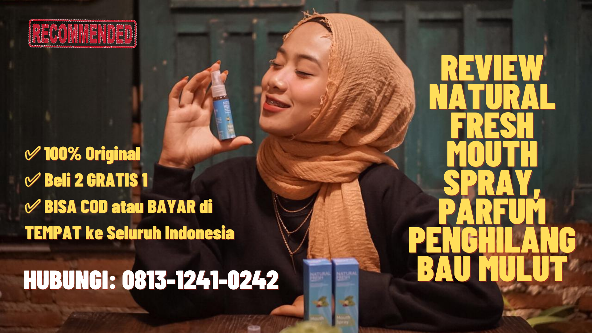 Review natural fresh untuk bau mulut