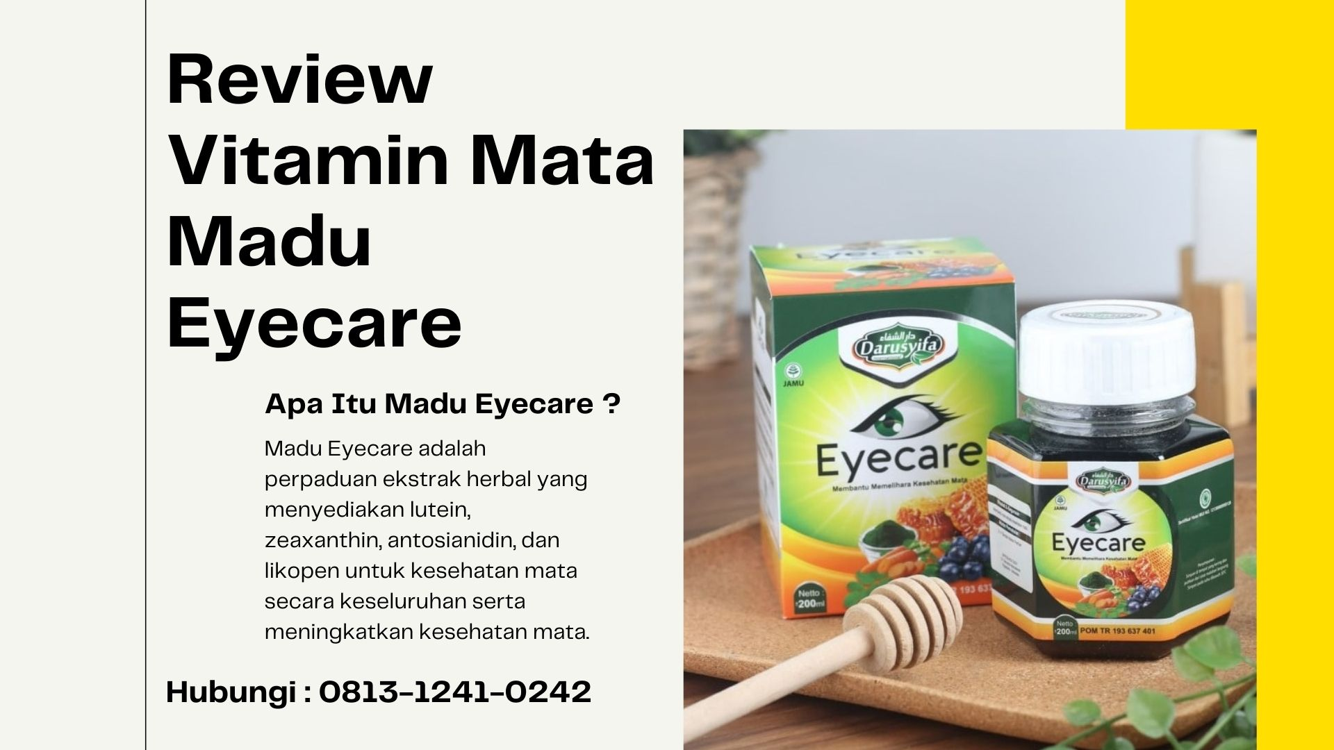 [REVIEW] Madu Eyecare Vitamin Mata, 0813-1241-0242