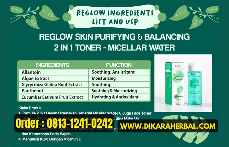 Komposisi dan Kandungan Utama Reglow Skincare