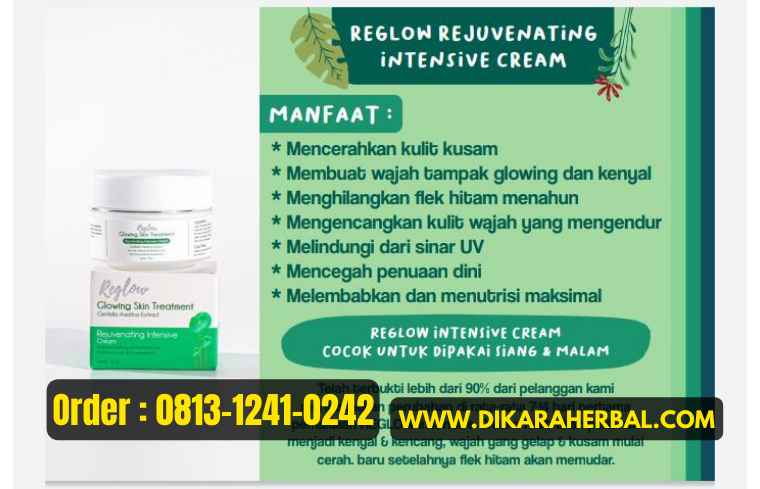 REGLOW: Glowing Skin Treatment Rejuvenating Intensive Cream